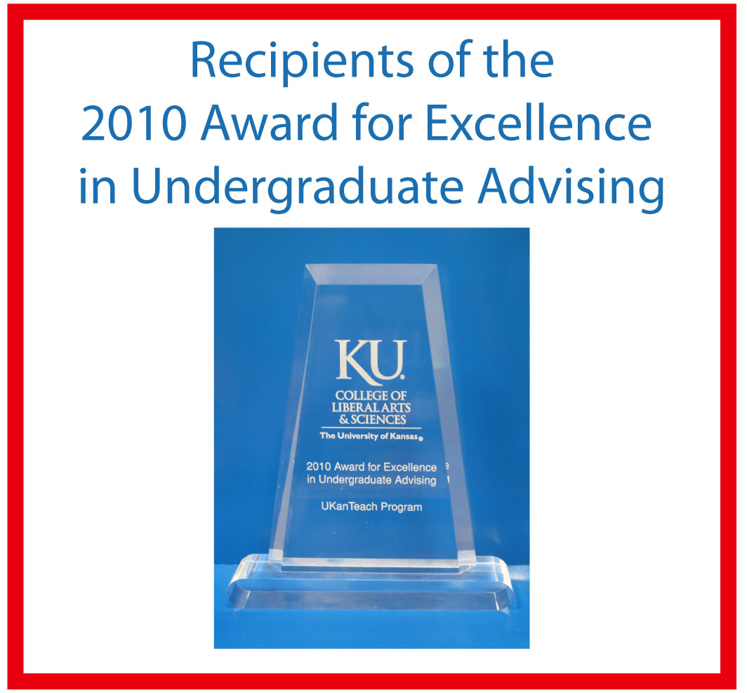 2010 Award for Excellence in Undergraduate Advising